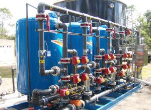 Oxidation/filtration water treatment system